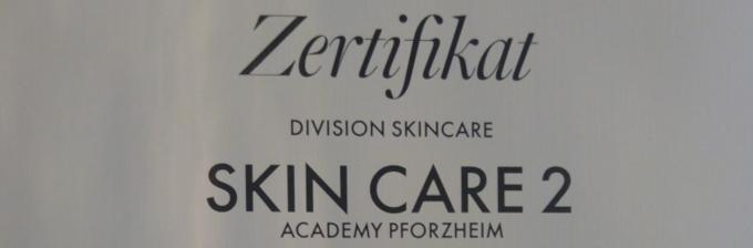 Zertifikat Skin Care 2