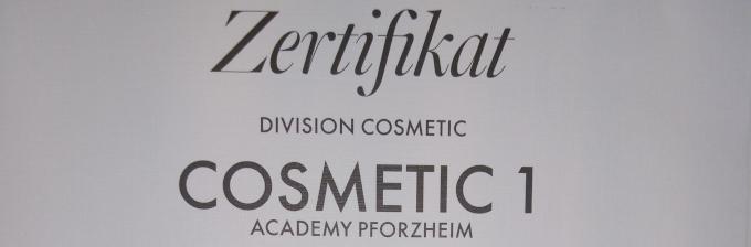 Zertifikat Cosmetic 1