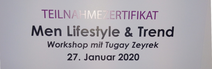 Zertifikat Men Lifestyle & Trend